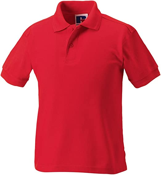 Fruit of the Loom Boys Polo Shirt red Burgundy 14-15 Years