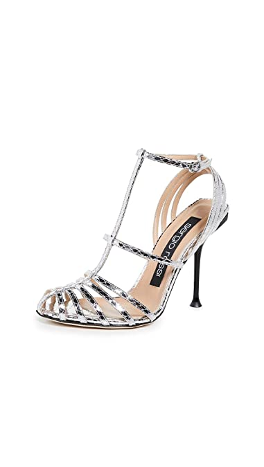 official photos b209a 49f3d Amazon.com | Sergio Rossi Women's Milano 105mm Sandals | Shoes