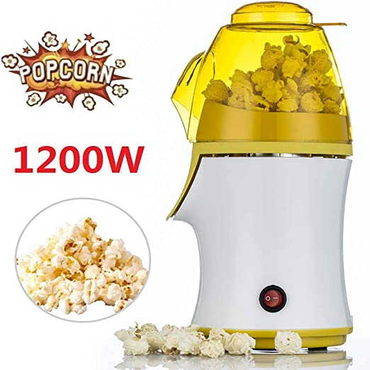 M.Y Maquina Palomitas de Maiz, 1200W Automática Popcorn Maker Aire ...