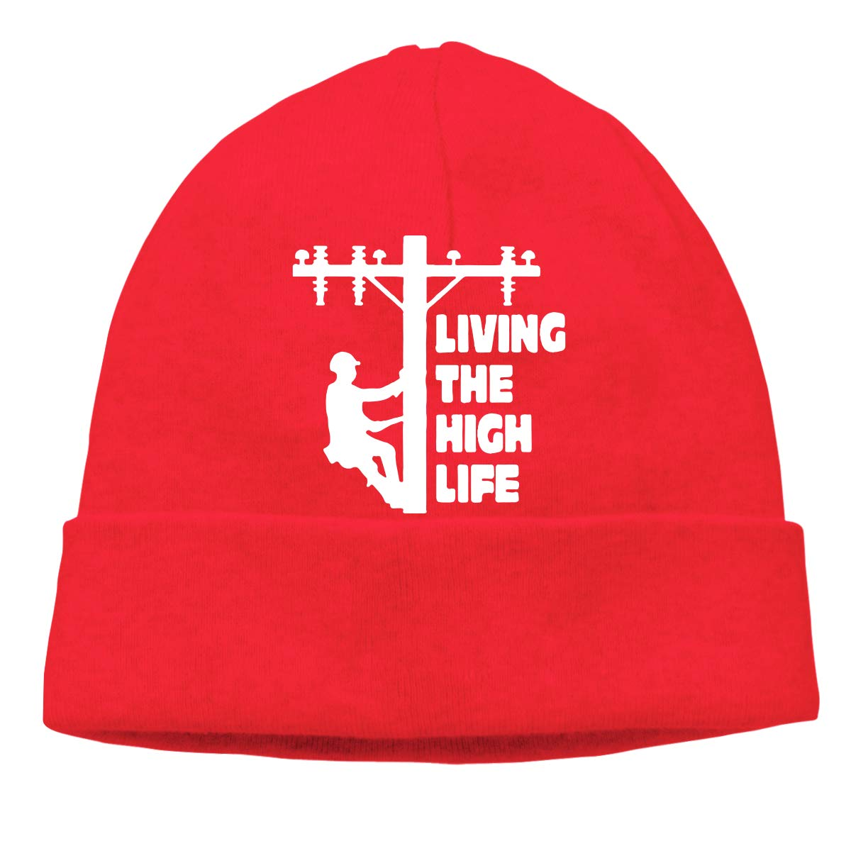 Cotton Skull Cap Lineman Knitted Cap Unisex Living The High Life