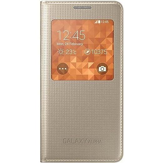 120 opinioni per Samsung EF-CG850BFEGWW S View Cover per Galaxy Alpha, Oro