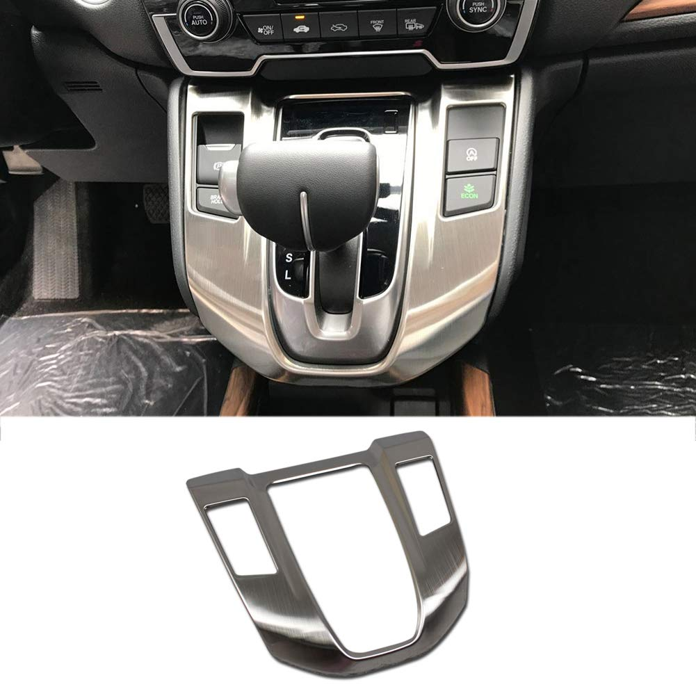 Beautost Fit For Honda 2017 2018 2019 CR-V CRV Gear Shift Knob Console Panel Cover Trim Stainless steel (Silver)