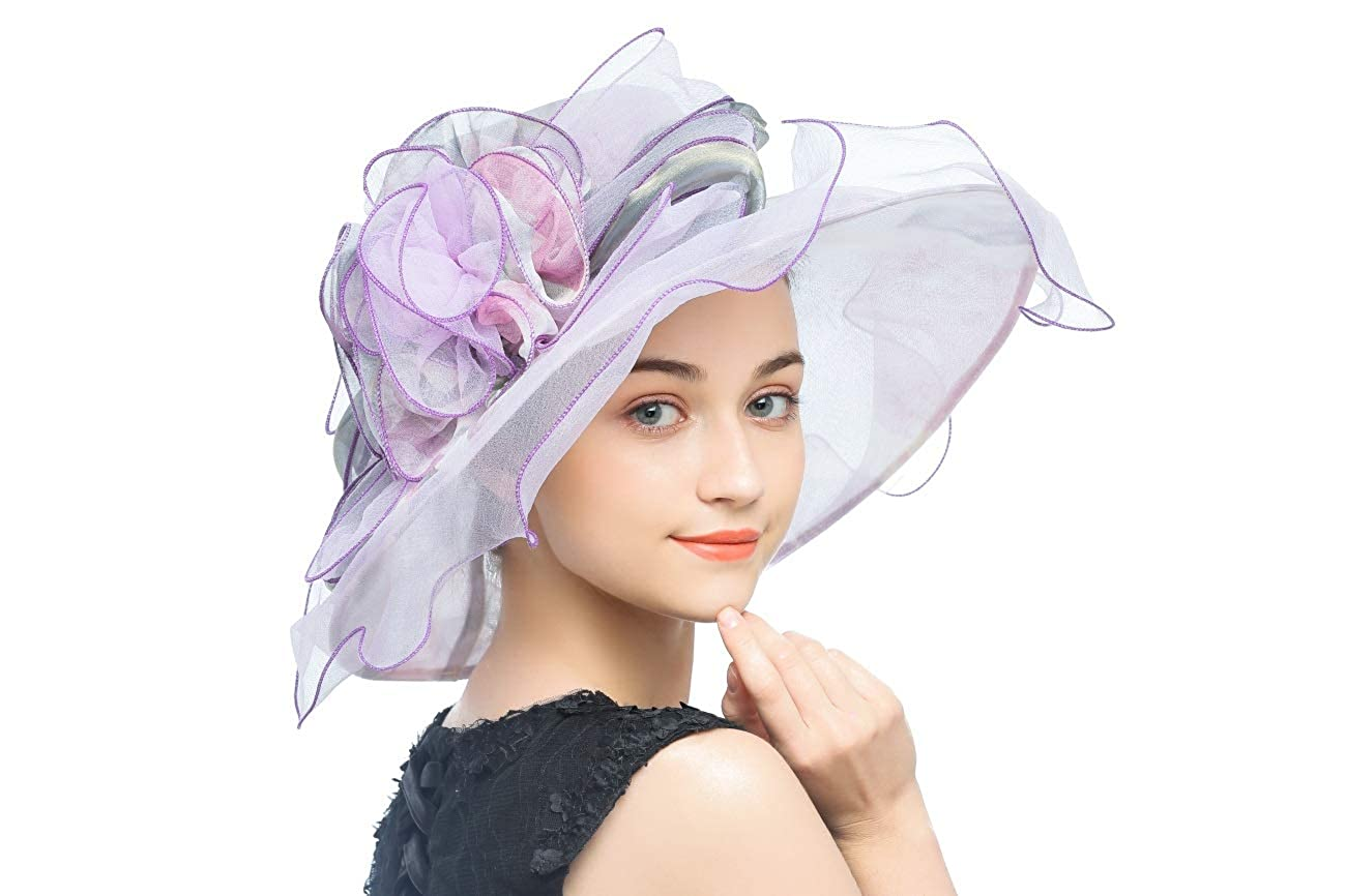 Fascinators Hat for Women Tea Party Headband Kentucky Derby Cocktail Party Mesh Feathers Wedding Bridal Hair Clip