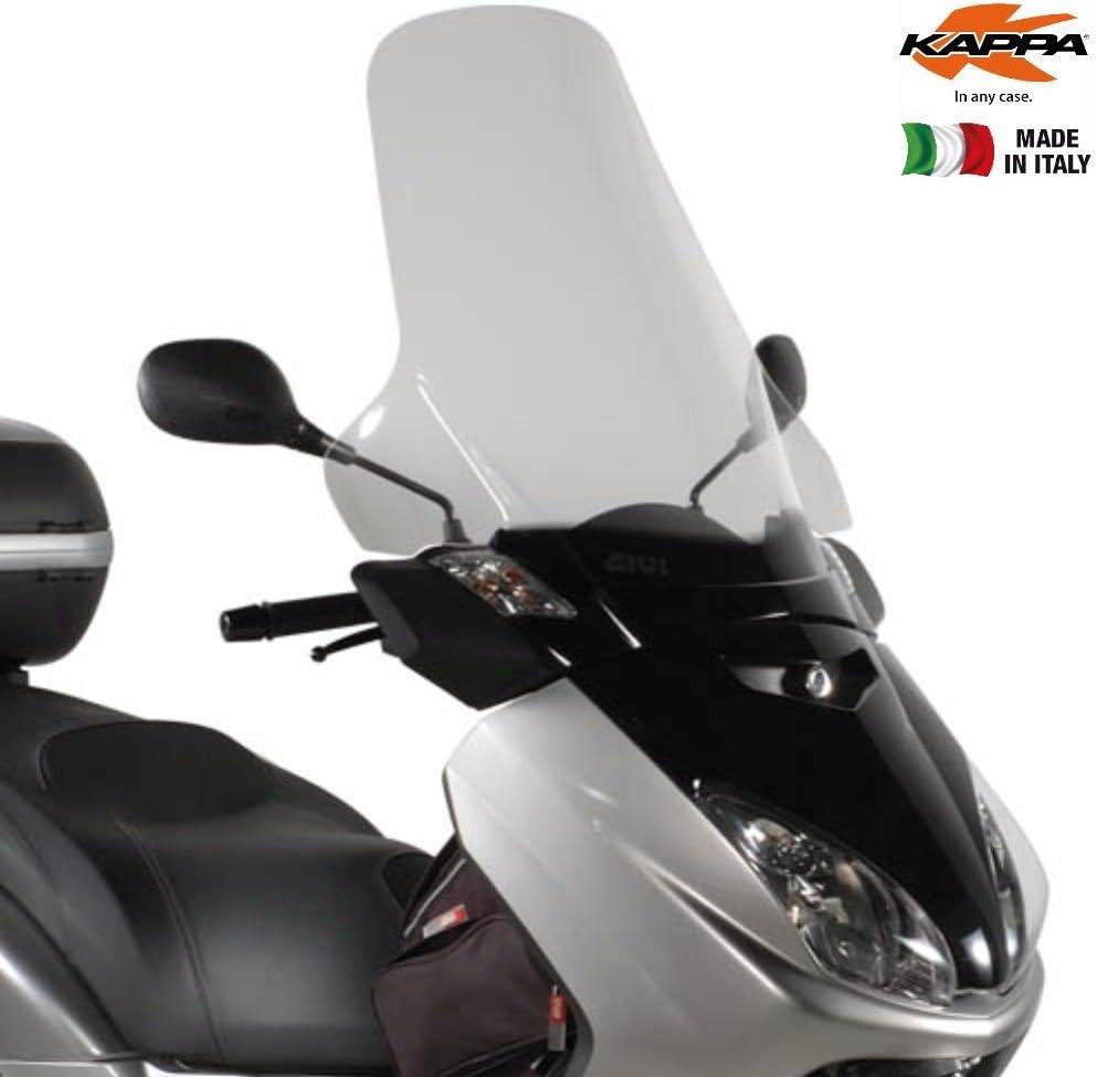 Altura x Longitud 05/ 09 /250/ 05/ 09 Yamaha X-MAX 125/ Kappa KD438st MBK Skycruiser 125/ Parabrisas Transparente 63,5/x 69,5/cm
