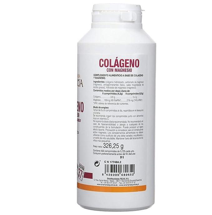 Ana Maria Lajusticia - Colágeno con magnesio – 900 comprimidos articulaciones fuertes y piel tersa. Regenerador de tejidos con colageno hidrolizado ...