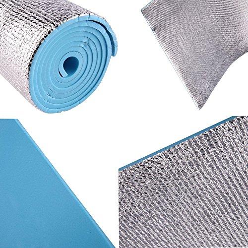 Feketeuki Tapis de Yoga imperm/éable Simple Anti-d/érapant 6mm /épais Body Building Sant/é Perdre du Poids Exercice Gymnastique Coussin Coussin de Remise en Forme Bleu