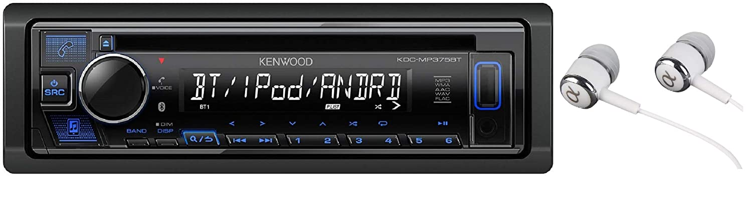 Kenwood KDC-MP375BT Car Single DIN in-Dash CD MP3 Stereo Receiver USB on