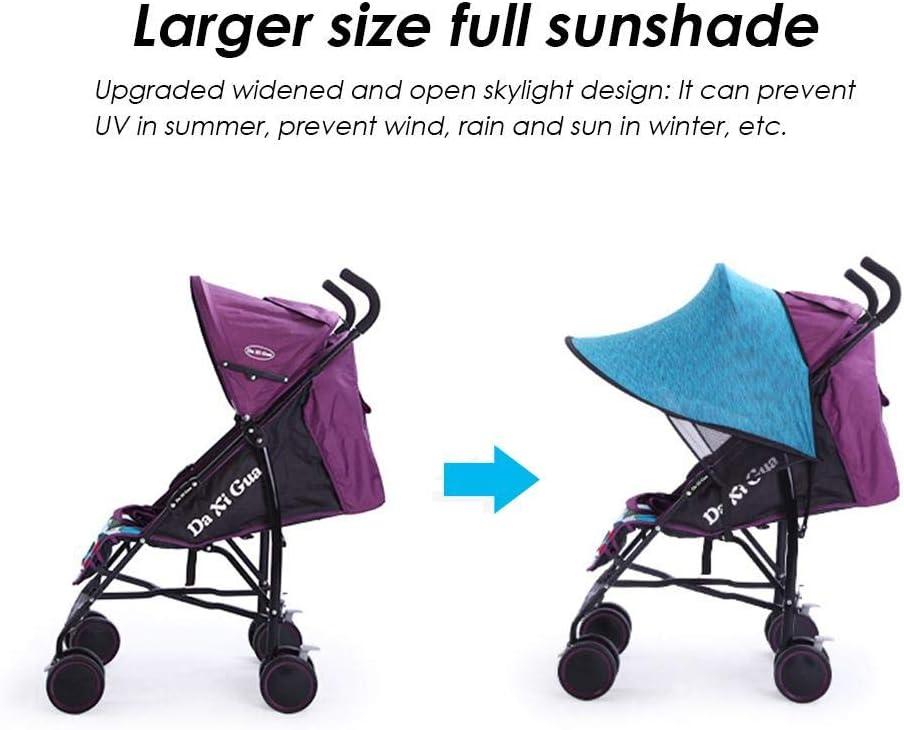 Bloomma Port/átil Parasol Protector contra Sol Lycra Anti-UV Sombrilla Cobertura Universal para Silla de Paseo Cochecito Carrito de Beb/é