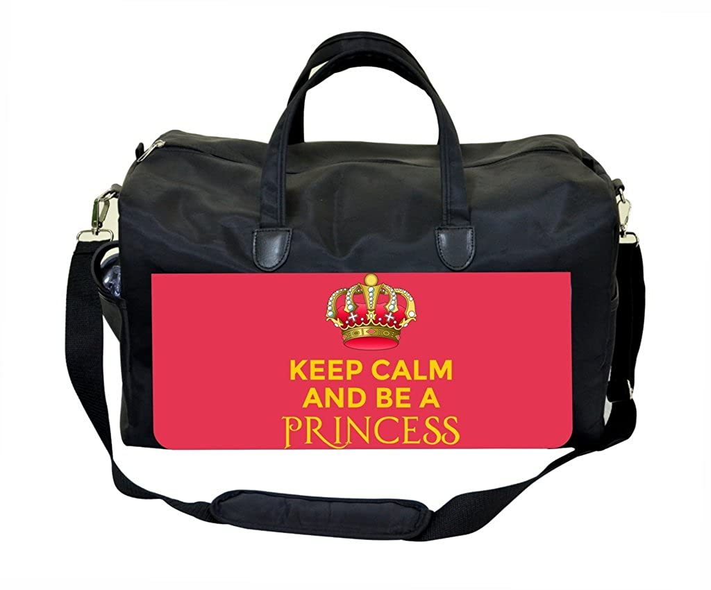 Keep Calm And Be A Princess Pink Weekender Bag