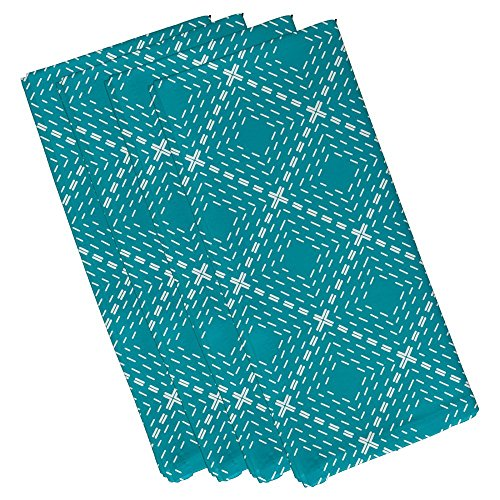 dots dashes geometric print napkin