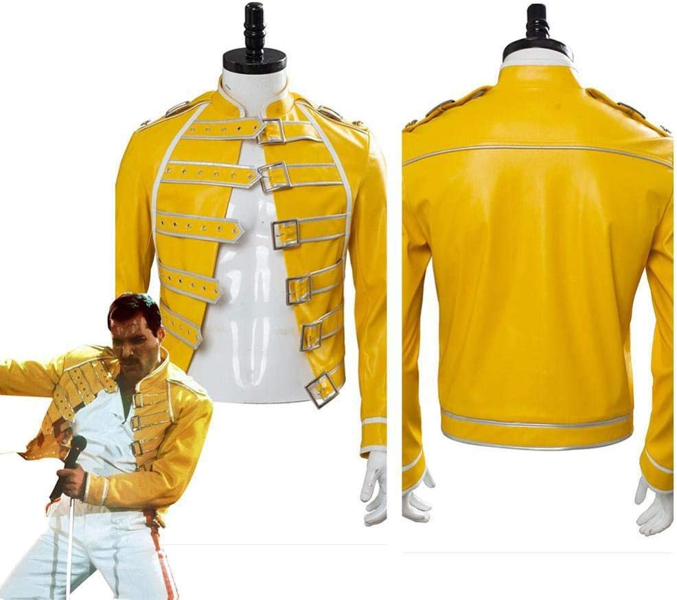 Queen Lead Vocals Disfraz de Cosplay Chaqueta amarilla Hombres ...