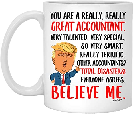 Amazon Com Great Accountant Gifts For Birthday Ideas Funny Mugs For Coworkers Christmas Presents For Men Women Coffee Cup White 11oz Kitchen Dining