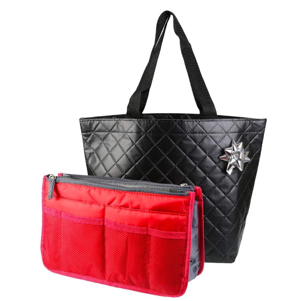 PACK TONEK - Pack Cadeau Femme/Organiseur de Sac à Main + Sac de Ville + Emballage Noel