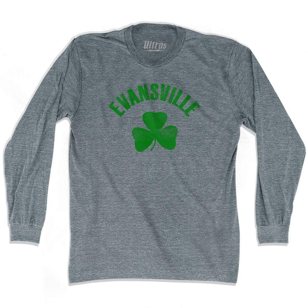 Evansville City Shamrock Tri-Blend Long Sleeve T-Shirt