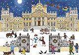 Alison Gardiner Famous Illustrator Unique Traditional Advent Calendar - Designed in England - Beautiful Festive Scene at Buckingham Palace