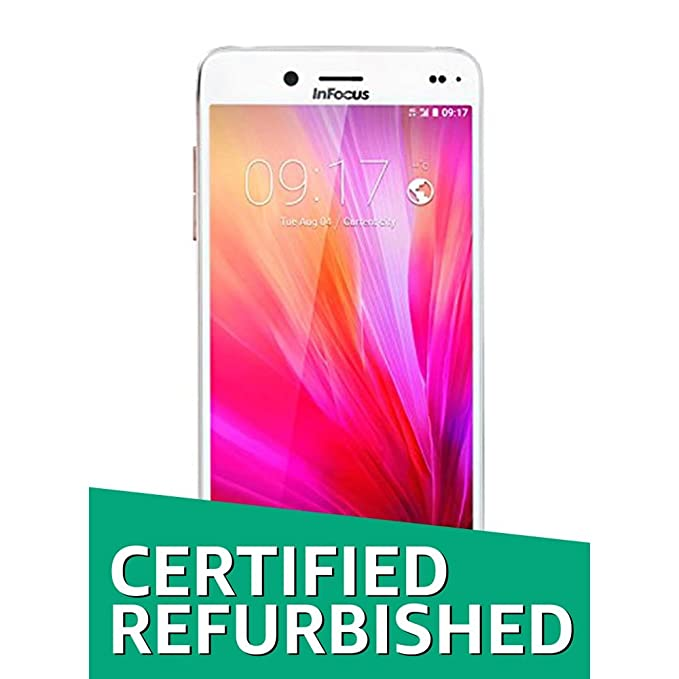 (CERTIFIED REFURBISHED) Infocus M680 (Silver-Gold) Smartphones at amazon