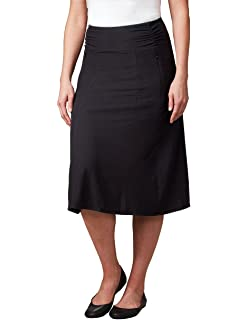 5f69b8cdc8 SCOTTeVEST Sandra Travel Skirt, Skirts for Women, Ladies Black A-Line Skirt