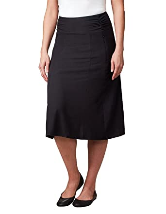 3f3545d35 SCOTTeVEST Sandra Travel Skirt, Skirts for Women, Ladies Black A-Line Skirt  (