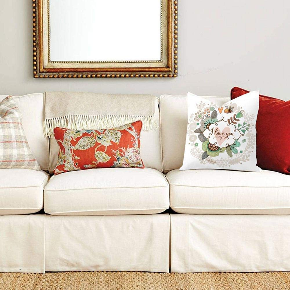 SHICHENGHUI Les Lapins de p/âques avec Les /œufs oreillers Linge Couvert Coton d/éco de Coussin Cas Coussins Respirable Une Coussin
