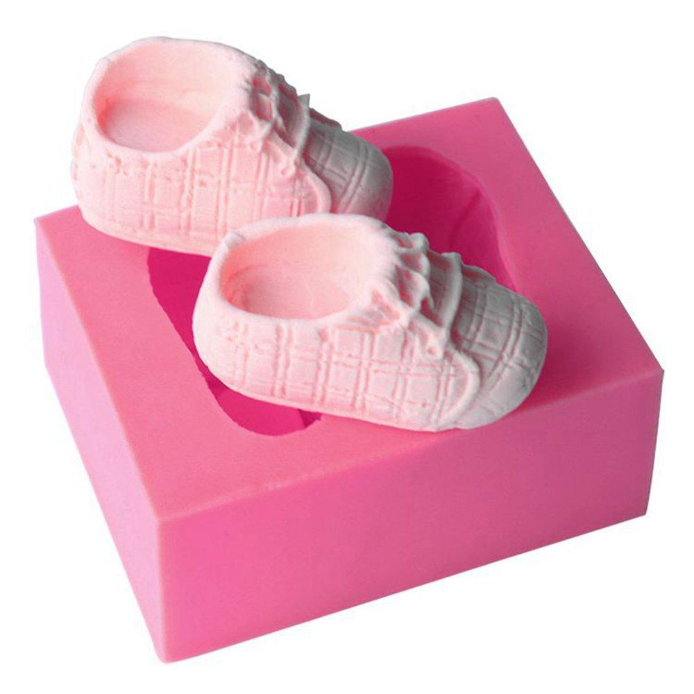 stampo per torte Baby Shoes decorazioni torte stampo in silicone a forma di scarpette per bambini Emore per fondente