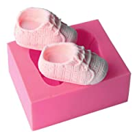EMORE Cute Baby Silicone Fondant Cake Mold Kitchen Baking Mold Cake Decorating Moulds Modeling Tools (Baby Shoes)