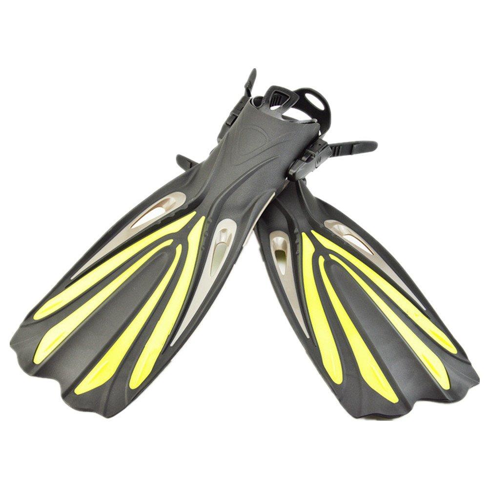 ダイバーズソフト シュノーケリングとスイミング旅行のためのフィンフリッパースイミング、シュノーケリング B07F1RX1YN 黄 M/S M/S|黄