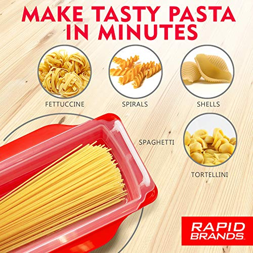 Rapid Pasta Cooker | Microwave Any Pasta in Half the Time | Perfect for Dorm, Small Kitchen, or Office | Dishwasher-Safe, Microwaveable, and BPA-Free