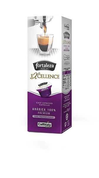 Café FORTALEZA - Cápsulas de Café Excellence Compatibles con Caffitaly - Pack 4 x 10 - Total 40 cápsulas