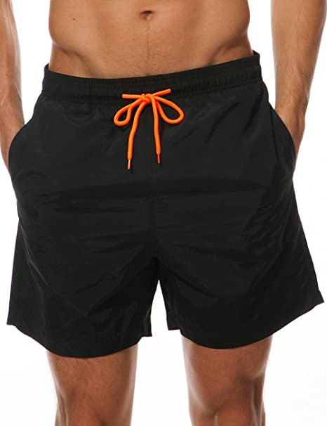 21908991ed MAKEIIT Oneal Swim Trunks Men 4In Swim Shorts XXL Swim Trunks 3XL Tropical  Board Shorts Black