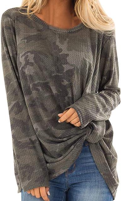 Geilisungren Camisa de Mujer Blusa de Manga Larga Blusa de