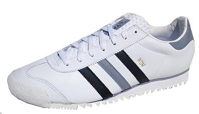 adidas Rom Schuhe Sneaker Turnschuhe Trainers Leder Weiss/Grau/Schwarz