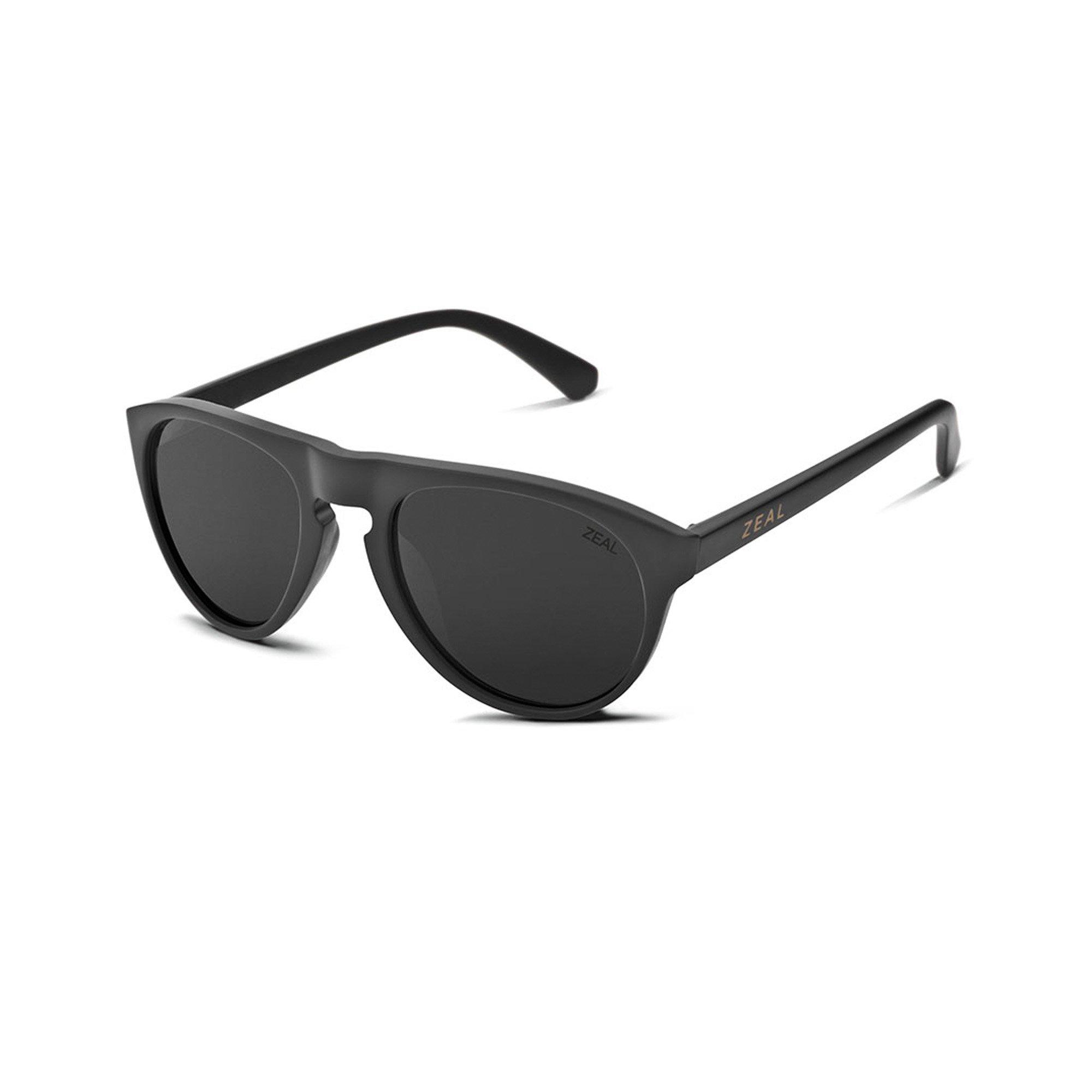 Zeal Optics Unisex Memphis Matte Black W/ Polarized Dark Grey Lens Sunglasses