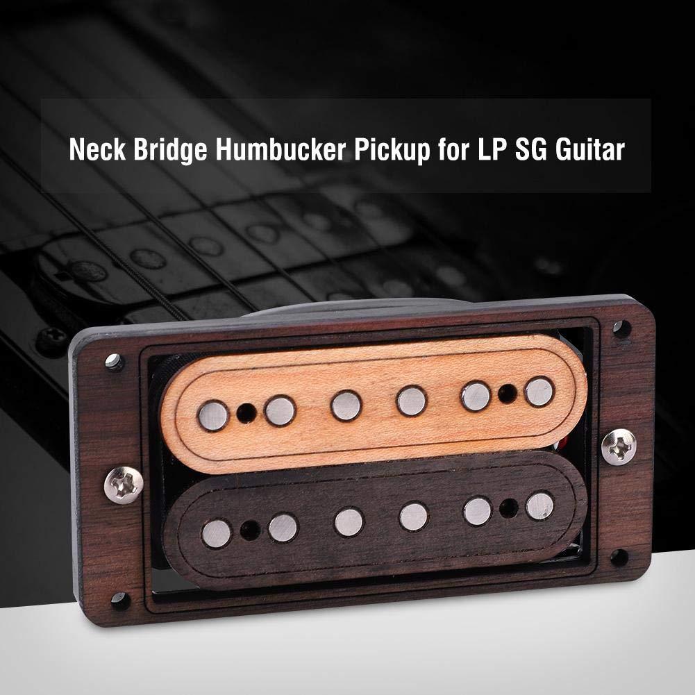 Wood Magnet Neck Bridge Humbucker Pickup with Frame for LP SG Guitar Guitar Pickup