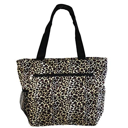World Traveler 13.5 Inch Beach Bag, Leopard, One Size ()