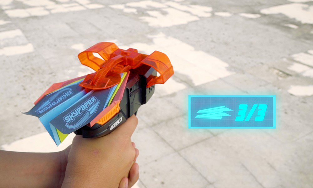SkyPaper Paper Plane Launcher - Stealth Black by The Bridge Direct (Image #6)