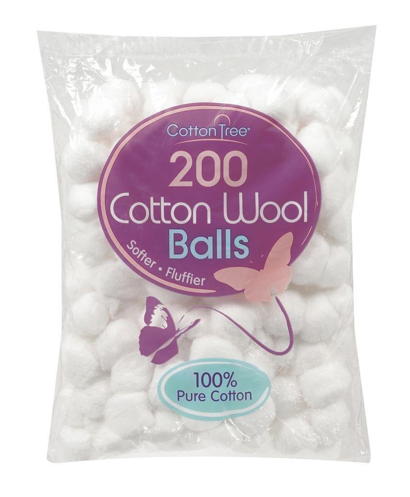 Cotton Tree Cotton Wool, Pack 200 Balls Highridge