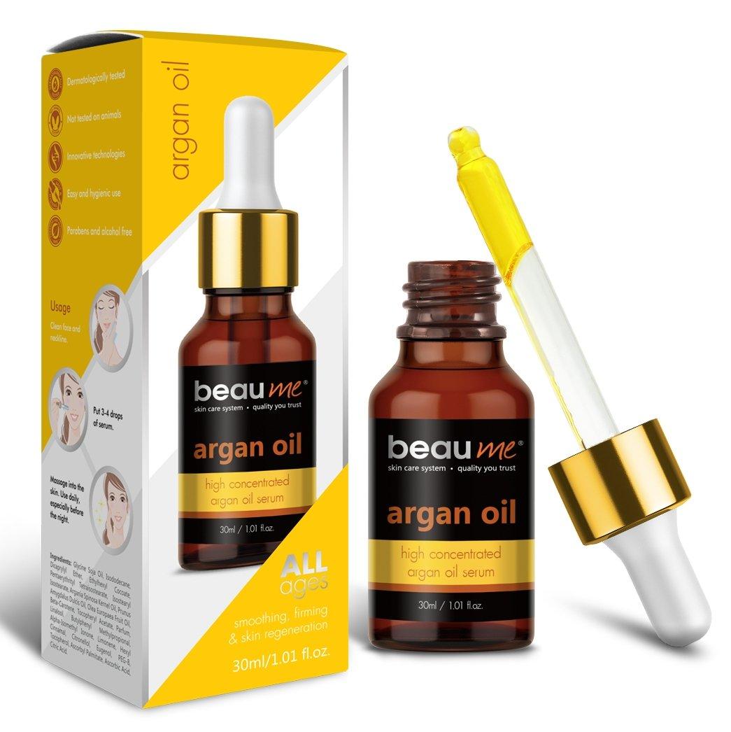 BEAUME® Hochkonzentriertes Marokko Arganöl Serum mit Vitamin C, 30ml - Geschmeidigkeit, Straffheit & Regeneration für jedes Alter