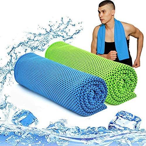 Cooling Towel Blue Cool Downz 13x29 New in Package for Workout//Yoga//Theme Park