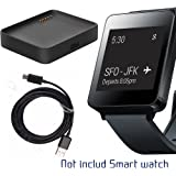 LG G Watch Charger, LG G Watch (LG-W100) Charging Cradle Dock, AnoKe Replacement Portable Charging Docking Station Cradle Holder Dock + USB Cable Cord For (LG G WATCH W100 Dock)