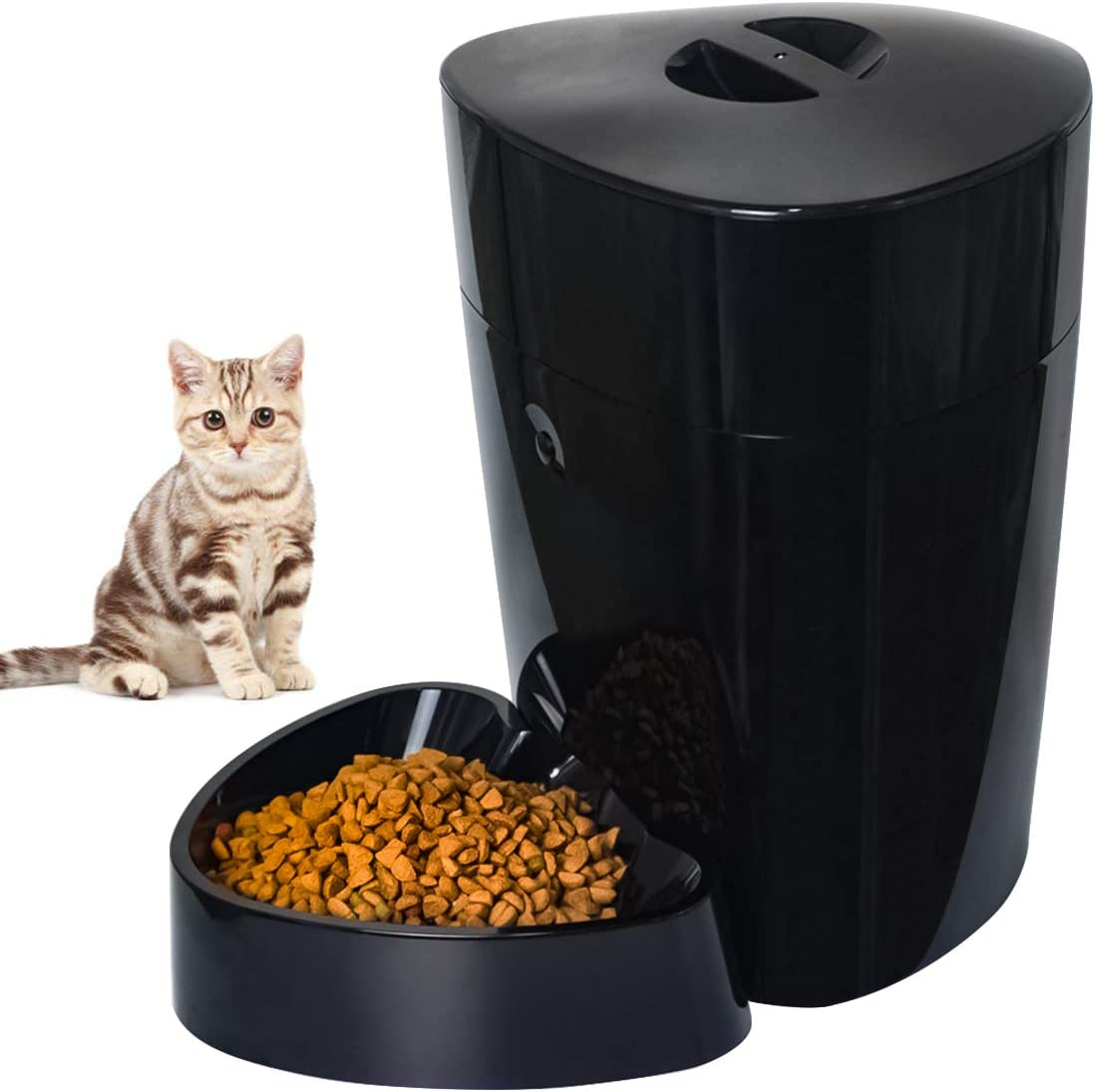 Companet Smart Pet Feeder Automatic Feeder 4.0 L Electric Dry Food Container Timed Dog Cat Dispenser Timer Programmable 1-6 Meals 15 Portions Control per Day for Dog Cat Small & Medium Pets