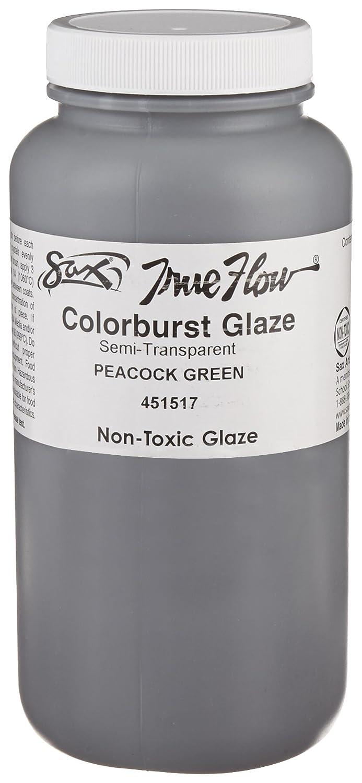 Sax True Flow Colorburst Glaze, Peacock Green, 1 Pint - 451517