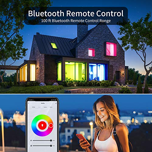 Bewahly Smart Light Bulbs, Color Changing Alexa Light Bulb WiFi Mesh, Smart Bulbs That Work with Alexa/Google Home, Dimmable LED Bulb A19 E26 Multicolor, High Brightness, 9W 800LM, 110V AC,6 Pack
