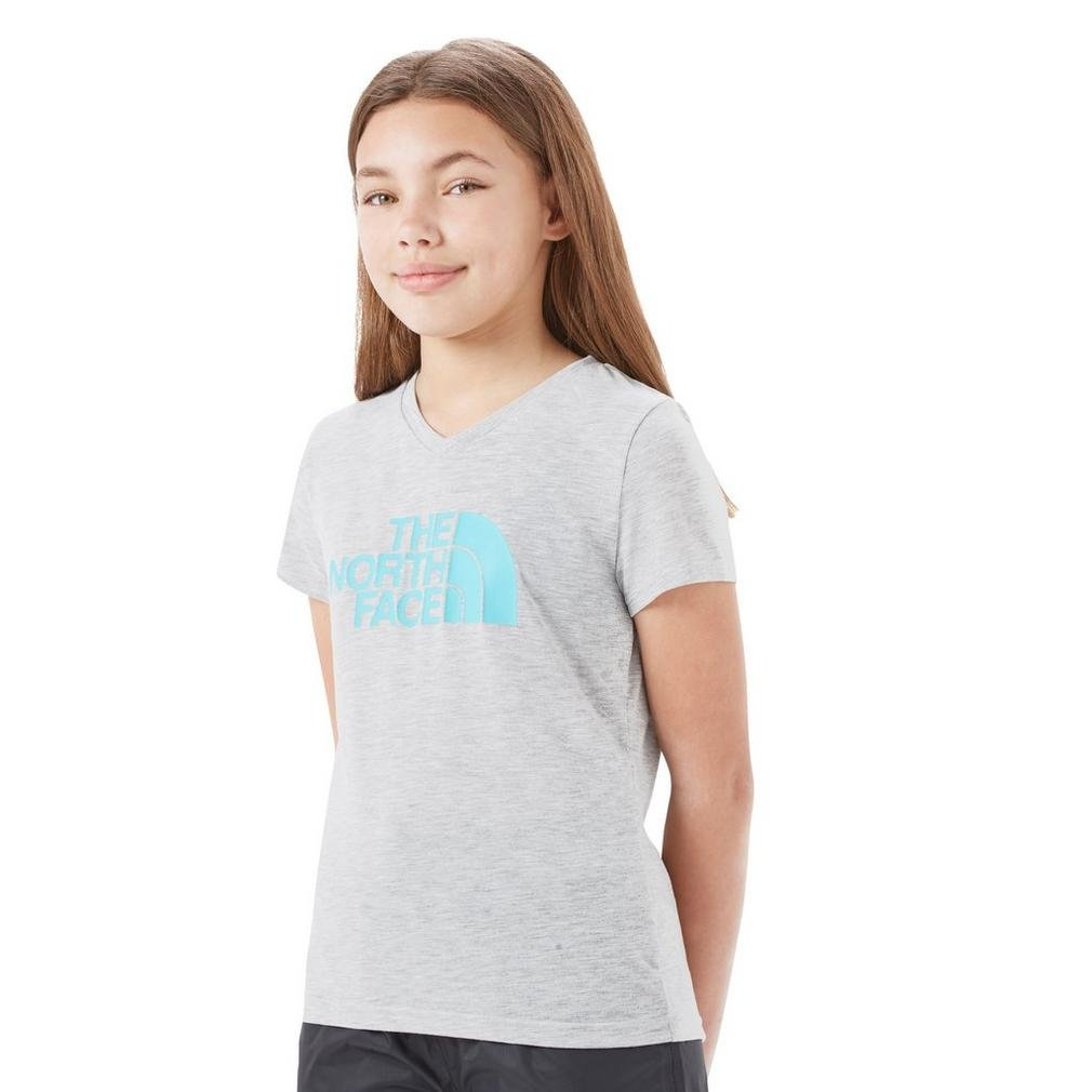 The North Face G SS Tee Reaxion L GR Maglietta, Bambina