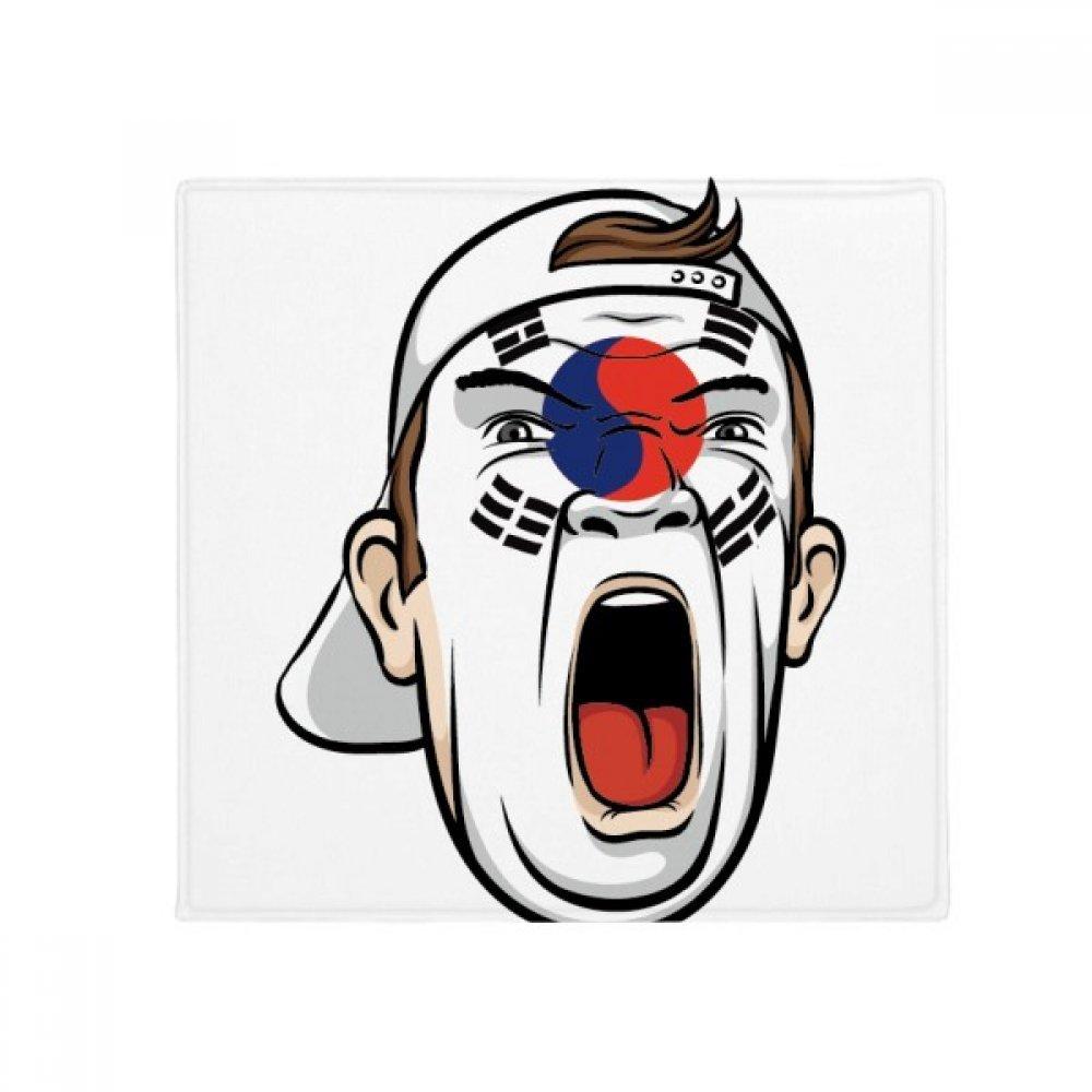 DiYthinker Korea Flag Flag Face Mask urlante Cap Anti -slip Floor Pet Mat Square Home Kitchen Door 80Cm Gift