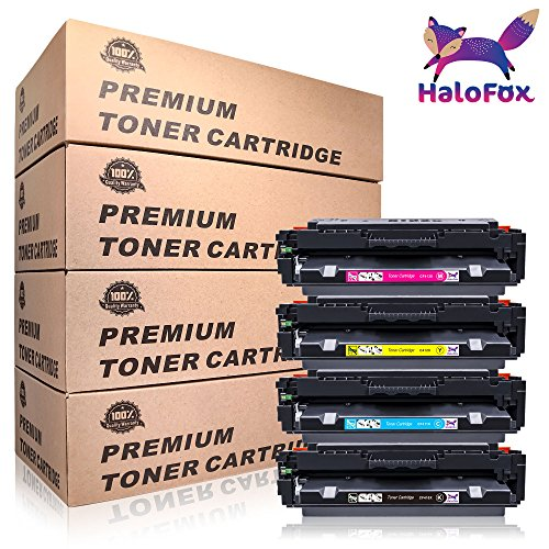 For HP 410A 410X (CF410X CF411X CF412X CF413X)Multipack (4-pack) High Yield Toner Cartridges, Compatible with Color LaserJet Pro MFP M452dn M452dw M452nw M377dw M477fdw M477fnw M477fdn Printer by HaloFox (Image #9)'
