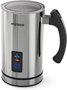 Automatic Milk Frother, Miroco Electric Milk Steamer Stainless Steel, Automatic Hot and Cold Milk Frother Warmer for Latte, Foam Maker for Coffee, Hot Chocolates, Cappuccino, Heater with Strix Control
