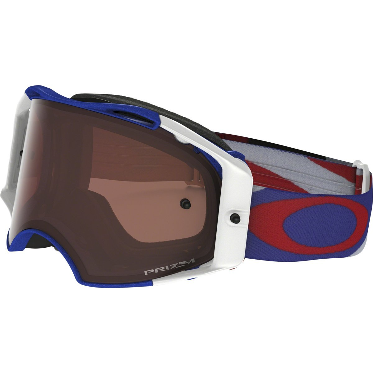 Oakley Airbrake MX Heritage Racer Adult Off-Road Motorcycle Goggles Eyewear - RWB/Prizm MX Bronze/One Size Fits All
