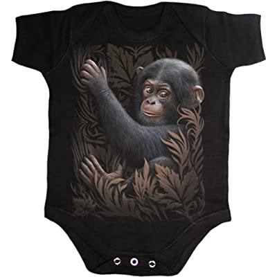 Spiral Baby-Boys - Monkey Business - Baby Sleepsuit Black