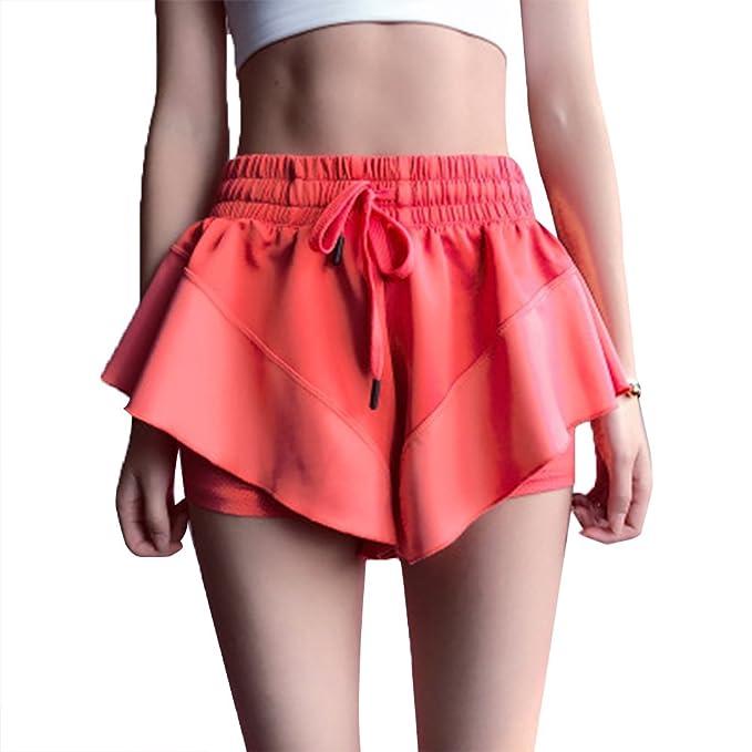 LUOEM Pantalones Cortos Deportivos Dry Anti-Light Yoga ...