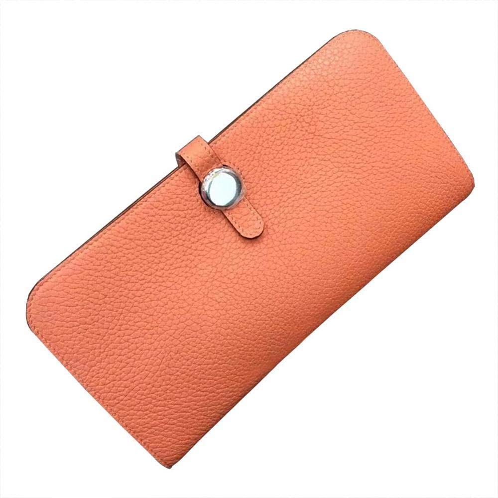 B Soft Leather Ladies Wallet Long Leather Clutch Bag Female Lychee Handmade Wallet Soft Leather Wallet Soft and Smooth Leather Wallet Handbag (color   B)